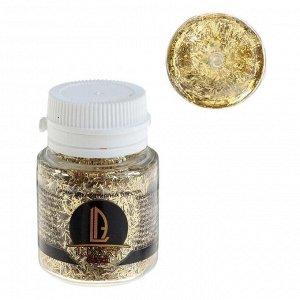 Декоративные блёстки LU*ART Lu*Glitter (сухие), 20 мл, палочки, золото