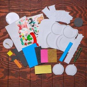 Набор для творчества - создай новогоднее украшение «Снеговик»