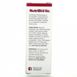 NutriBiotic, назальный спрей, 29,5 мл (1 жидк. унция)
