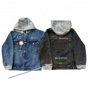 Серый. Куртка джинсовая для мальчиков
