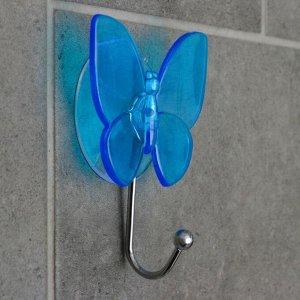 Крючок на вакуумной присоске «Бабочка», цвет МИКС 608740