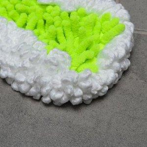 Насадка для плоской швабры с гибкими краями Доляна, 38?8 см, 90 гр, микрофибра букли, цвет белый