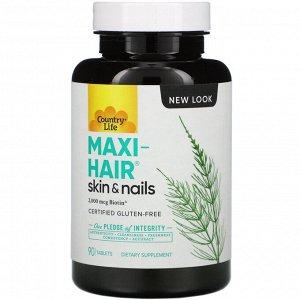 Country Life, Maxi-Hair, 90 таблеток