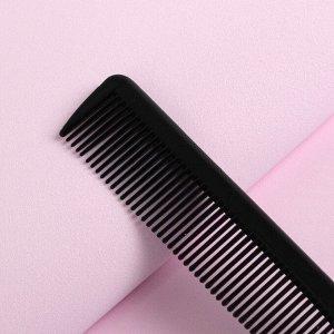 Расчёска с хвостиком, цвет чёрный