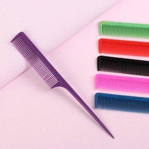 Расчёска с хвостиком, цвет МИКС