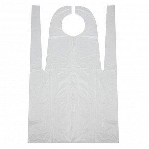 Фартук защитный белый, 10 мкм., размер 68*110 см.