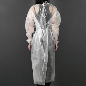 Халат хирургический на завязке, манжета на резинке  42 г/м2  длина 130 см