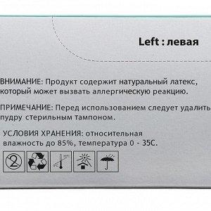 Медицинские латексные перчатки хирургич нестерилные анатом формы опудр тектсурир М ( 7 )