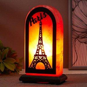 """Соляной светильник с диммером  """"Прямоугольник Париж"""" Е14 15Вт 2-3 кг гимал. соль 10х7х20 см"""
