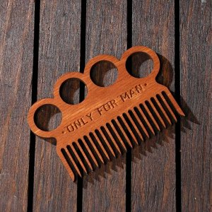"""Расческа для бороды """"Оnly for men"""", 8,3 х 5,8 см"""