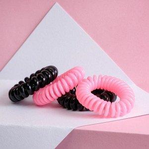 Набор резинки - пружинки для волос Girl Boss, 4 шт, d=3,5 см