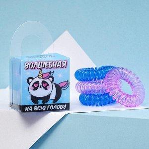 Набор резинки - пружинки для волос Pandacorn, 4 шт, d=3,5 см