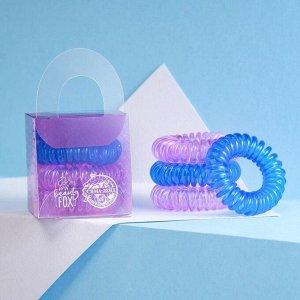 Набор резинки - пружинки для волос «На волне», 4 шт, d=3,5 см