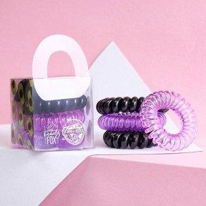 Набор резинки - пружинки  для волос «Мечтай», 4 шт,   d=3,5 см