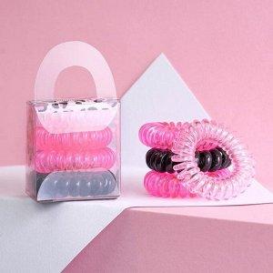 Набор резинки - пружинки  для волос Beauty secret, 4 шт, d=3,5 см
