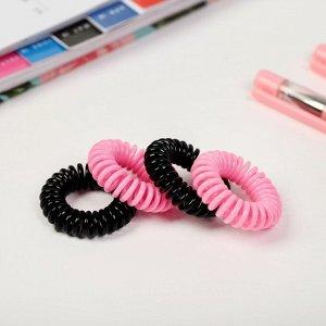 Набор резинок-пружинок для волос «Котик», 4 шт, диам 3,5 см, 3,6 х 3,8 х 3,6 см