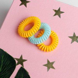 Резинки-пружинки для волос «Мое солнышко», 3 шт., 3,5 см