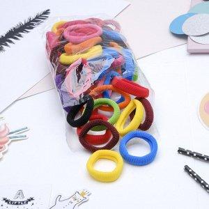 """Резинка для волос """"Махрушка"""" 6 см (набор 48 шт) разноцветные"""