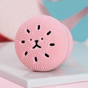 Щёточка для умывания «Котик«, розовый, 6 х 5,5 х 5,5 см