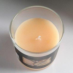 """Свеча в гладком стакане ароматизированная """"Сандаловое дерево"""""""