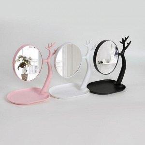 Зеркало настольное, с увеличением, зеркальная поверхность 14,5 ? 17 см, МИКС