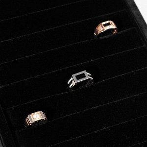 Подставка под кольца горка, 7 полос, 19*9,5*23 см, цвет чёрный