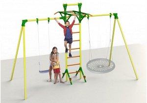 Качели (каркас) парные с лестницей Leco-IT Outdoor Plus