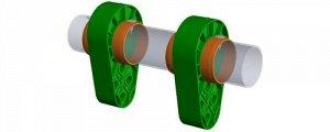 Система качания для веревочных канатов на трубу 38
