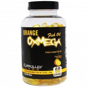 Controlled Labs, Апельсиновый рыбий жир OxiMega с цитрусовым вкусом, 120 мягких желатиновых капсул
