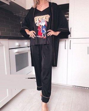 Комплект В комплекте: Майка, халат, шорты, брюки