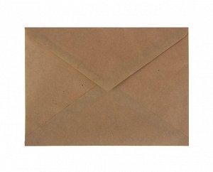 Конверт почтовый крафт С5, 162х229 мм, треугольный клапан, клей, 80 г/м2, в упаковке 10 штук