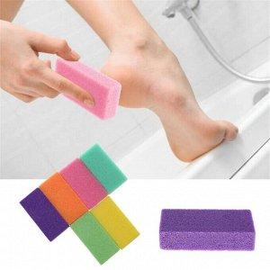 Супер пемза для ног, для мягких пяточек размер 8,5 на 4.5 см, высота 1.5 см