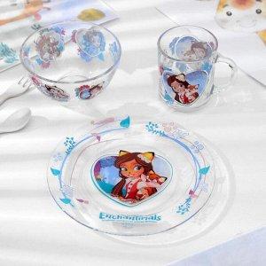 Набор посуды детский Priority «Энчантималс. Лисёнок», 3 предмета
