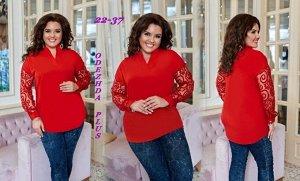 Блузка Ткань: креп+гипюр