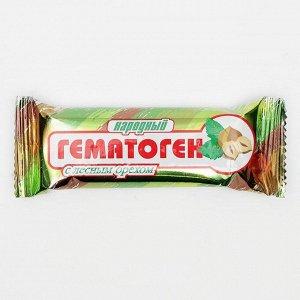 Гематоген Народный с лесным орехом, 40 г