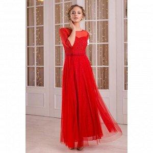 """Платье женское MINAKU """"Dolce"""", длинное, размер 44, цвет бордовый"""