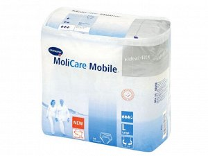 """Подгузник воздухопроницаемый (""""дышащий"""") (впитывающие трусы) MoliCare Mobile (Моликар Мобайл), размер Large (L), 14 шт/упаковка, Германия (Paul Hartmann AG) 9158330"""