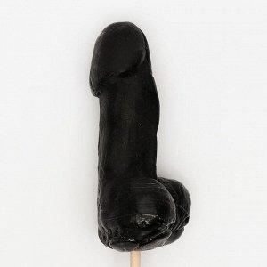 Леденец на палочке «Мистер XL», чёрный, 12 см, 140 г