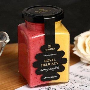 Мёд-суфле «Клюква-Апельсиновая цедра», 340 г