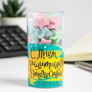 """Фигурный сахар в  тубе """"23 Февраля - Звезды"""""""