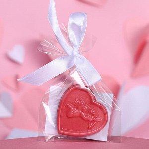 Шоколад фигурный «Сердечко с ангелочком» рубиновый, 7 г