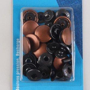 Кнопки установочные, d = 15 мм, 10 шт, цвет медный