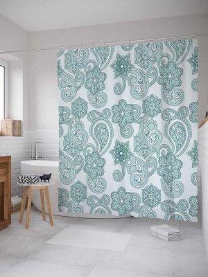 Штора (занавеска) для ванной «Простая весна» из ткани, 180х200 см с крючками