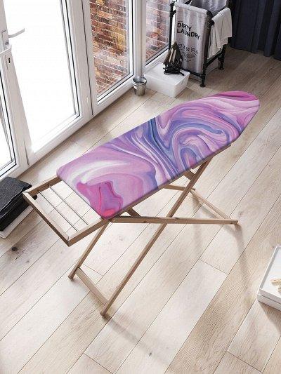 Красивые шторки в ванную, сумки, корзины и много текстиля — Чехлы на гладильную доску