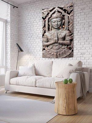 Панно (постер) с фотопринтом на стену «Металлический будда»