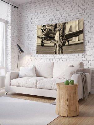 Панно (постер) с фотопринтом на стену «Девушка летчика»