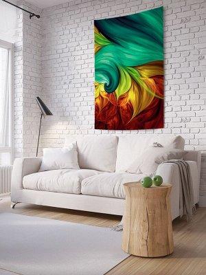 Панно (постер) с фотопринтом на стену «Цветочное пламя»