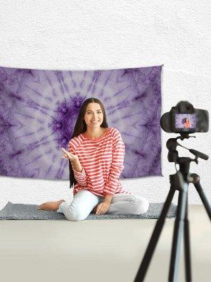 """Тканевый фотофон для съемки (стрима/зума)  """"Фиолетовые узоры"""", 100x150 см"""