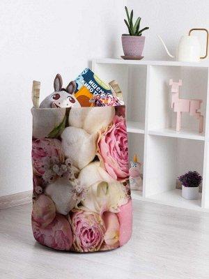 Корзина для игрушек «Розовый букет» 35x50 см