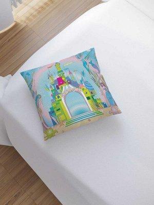 Наволочка декоративная «Королевство на дне моря» на молнии, 45x45 см